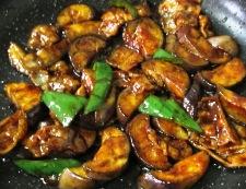 ナスと豚バラ肉の甘味噌炒め 調理⑥