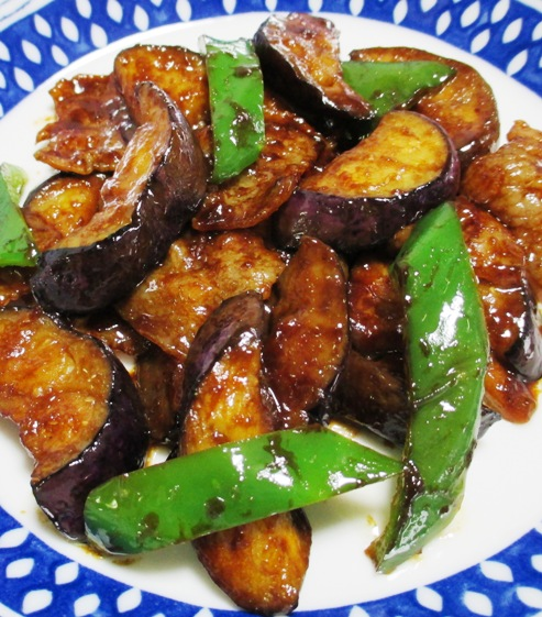 ナスと豚バラ肉の甘味噌炒め B