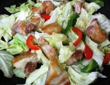 鶏もも肉の柚子こしょう炒め 調理④