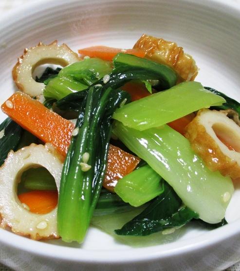 青梗菜のナムル 大