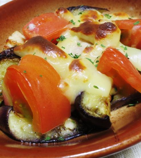 ナスとトマトのチーズ焼き 大