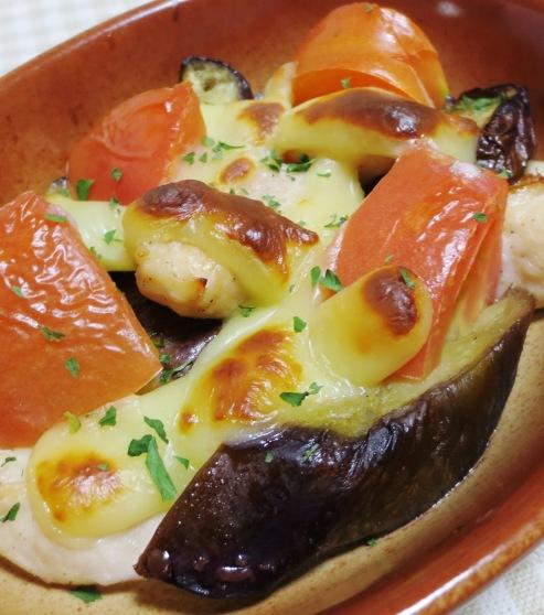 ナスとトマトのチーズ焼き B