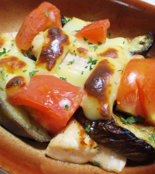 ナスとトマトのチーズ焼き 拡大