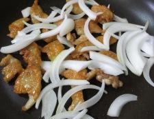 鶏皮のしょうが焼き 調理③