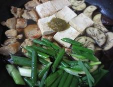 鶏肉とナスの柚子こしょう煮 調理⑥