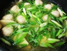 鶏だんごと春雨の和風スープ煮 調理④