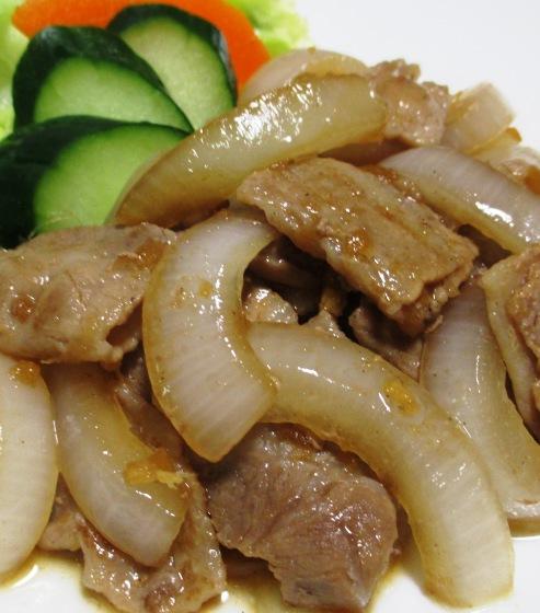 豚バラ肉のポン酢しょうが炒め B