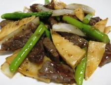 牛肉とアスパラの黒胡椒炒め 調理⑥