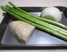 牛肉とアスパラの黒胡椒炒め 材料②