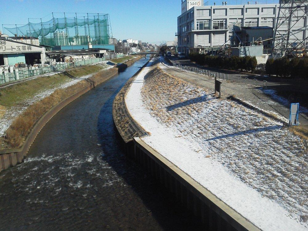 F1000582雪の翌日 黒目川
