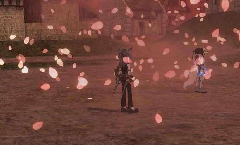 桜舞い散る