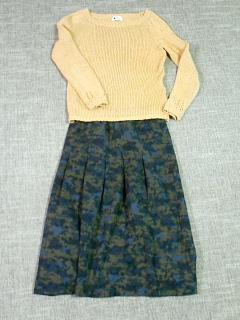 迷彩スカート1