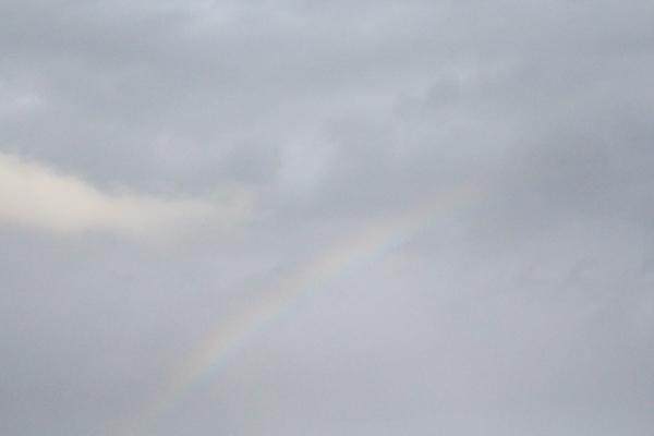 うっすら虹