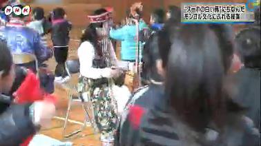 安代舞の伴奏