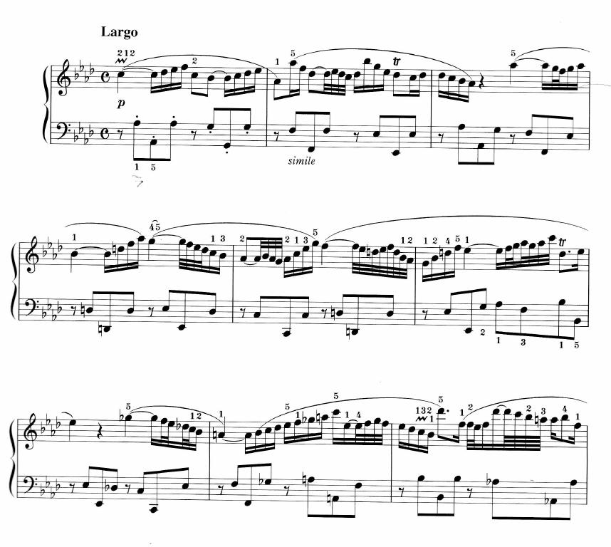 チェンバロ協奏曲第5番第2楽章