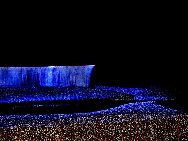 なばなの里ウィンターイルミネーション・ナイアガラの滝(8)