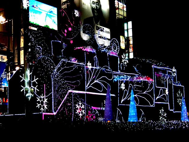 新橋駅前SL広場 SLのイルミネーション(1)