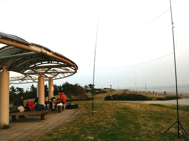 2015年3月 東扇島西公園でDX