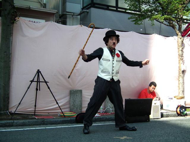 2015野毛大道芸 ケチャップリンたび彦(1)