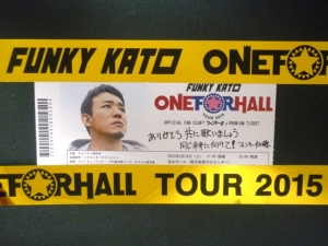 FUNKY KATO ONE FOR HALL TOUR2015