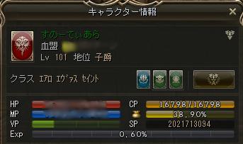 Lv101達成~!