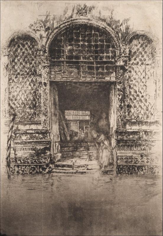 《ヴェネツィアの扉口》1880年頃