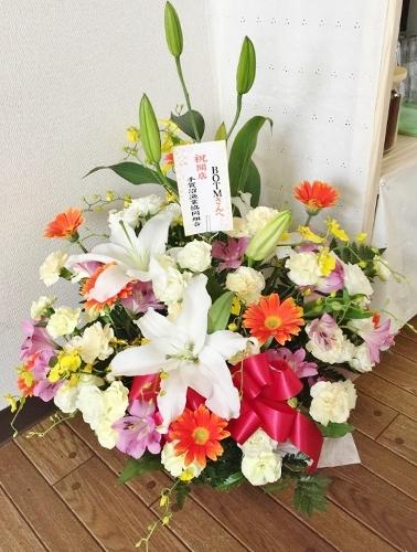 組合アレンジお花
