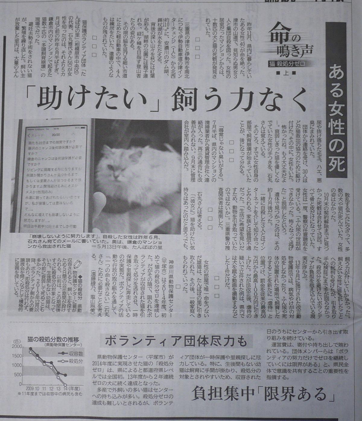 27年6月2日神奈川新聞