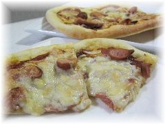 150402 食パン生地をピザに