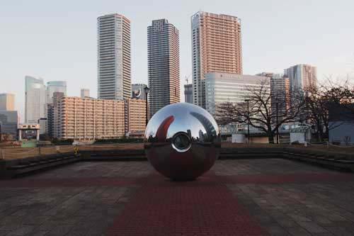 球形のある風景1