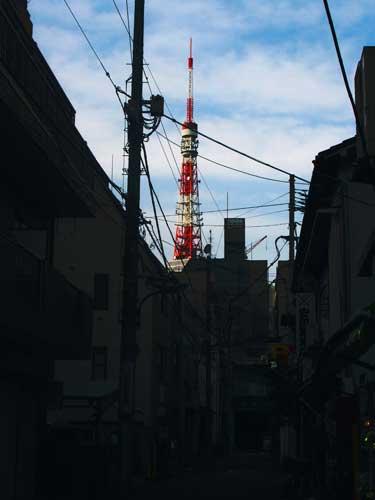 東京タワーの見えるまち