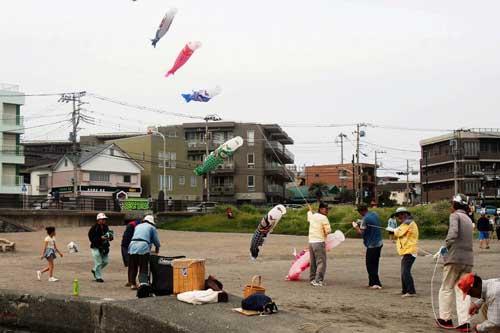 鯉のぼり凧揚げ4