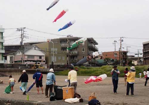 鯉のぼり凧揚げ5