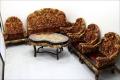 中国物 無垢材 龍彫り 応接6点セット01