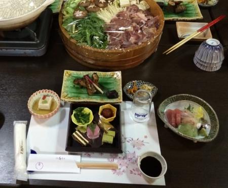 豪華な夕食