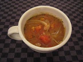 玉ネギおばさんのトマみそスープ