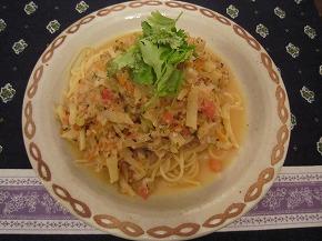 香菜(シャンツァイ)パスタ