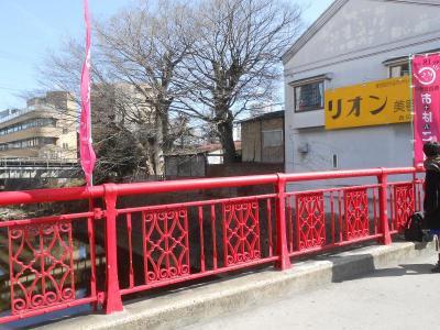 石橋商店街、赤い橋400