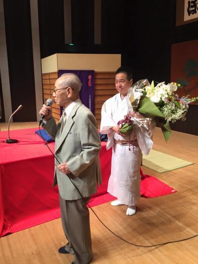 春團治師匠と、舞台挨拶(400)