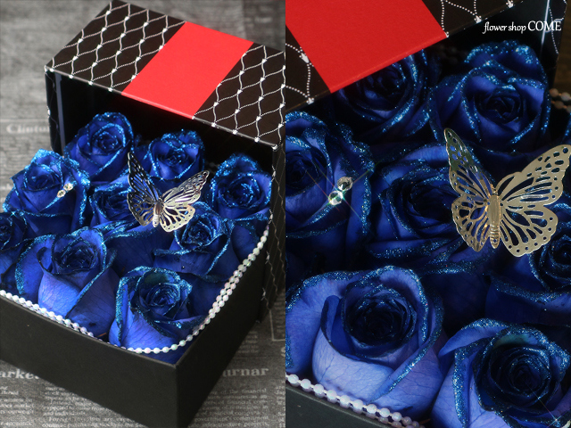 青い バラ サプライズ