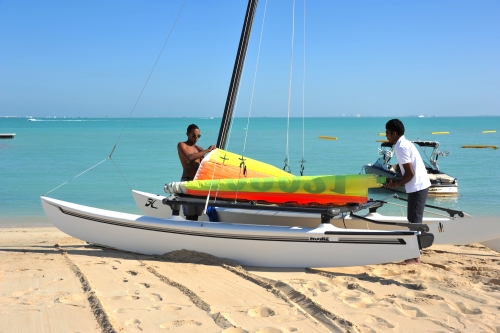 Hobie Cat 16 on the beach