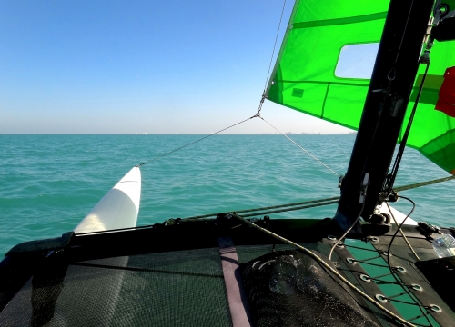 Hobie Cat 16 Sailing Bow View 1