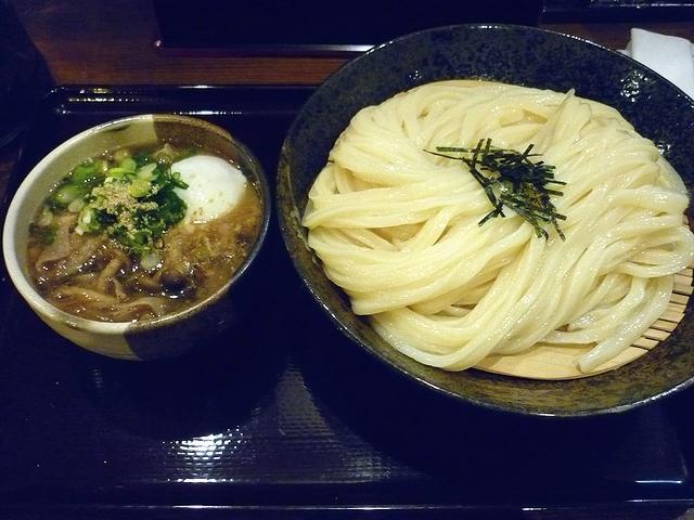 豚バラとキノコのつけ麺