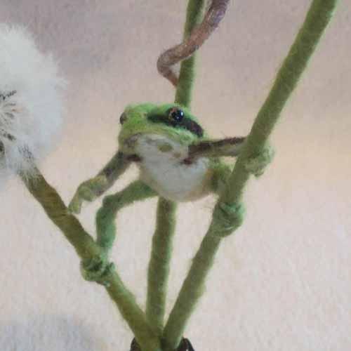 羊毛フェルトカエルネズミ-6
