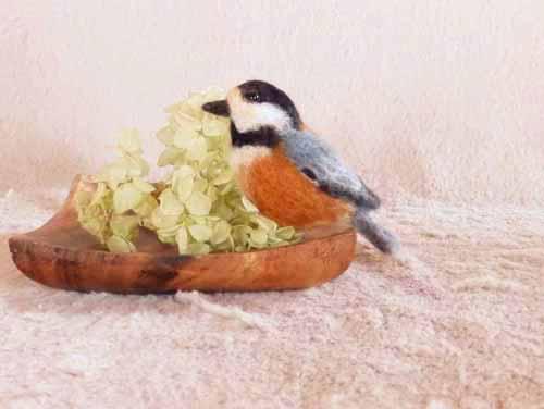 野鳥のブローチ0131-9