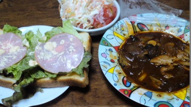 150502_トースト&サラダ