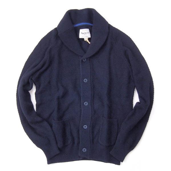 Pepe Jeans/ペペジーンズ/メンズ/'SAILORS' 綿ニットカーディガン col ネイビー pm700831-navy