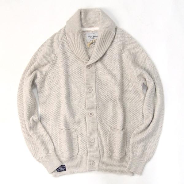 Pepe Jeans/ペペジーンズ/メンズ/'SAILORS' 綿ニットカーディガン col ホワイト pm700831-white