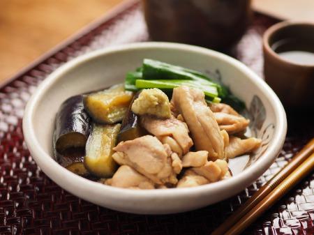 鶏と茄子の治部煮風26