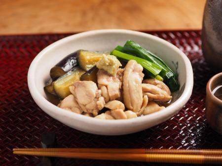 鶏と茄子の治部煮風01